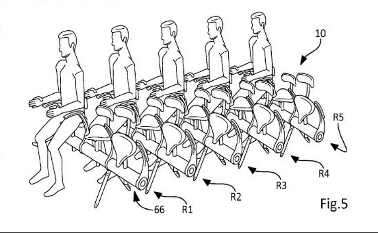 ¿Aviones con sillines de bicicleta en vez de asientos?