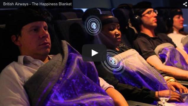British Airways prueba una manta que refleja el estado de relajación del pasajero