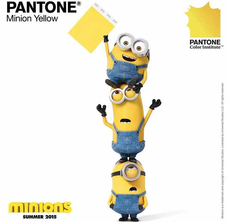 Pantone anuncia el color amarillo Minion