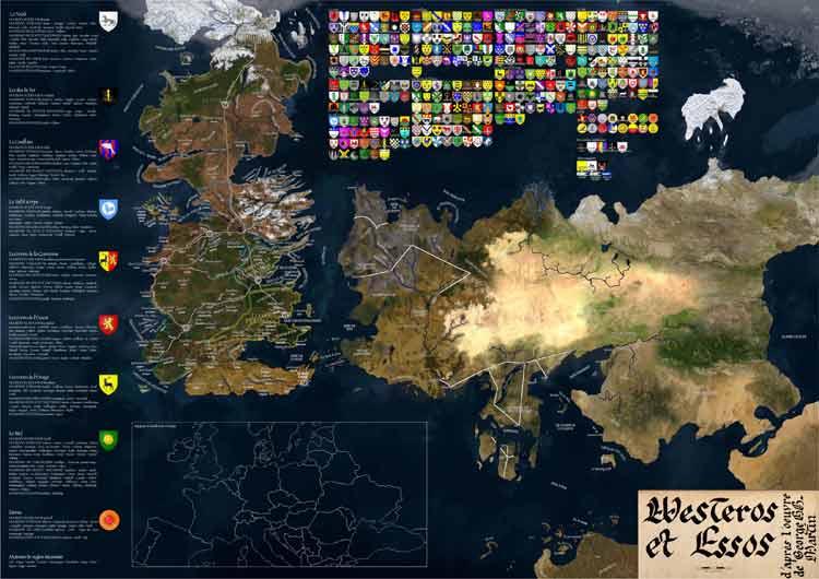 Un fan calcula las distancias entre los territorios de Juego de Tronos