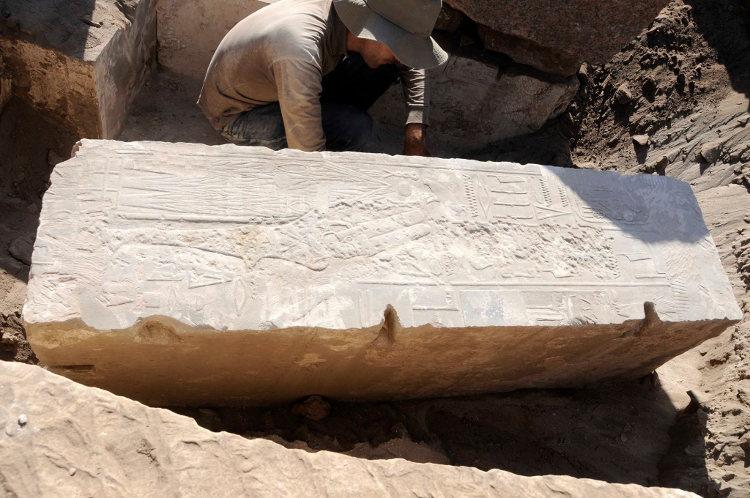 Encuentran una estación de la barca sagrada de Jnum de tiempos de Hashepsut
