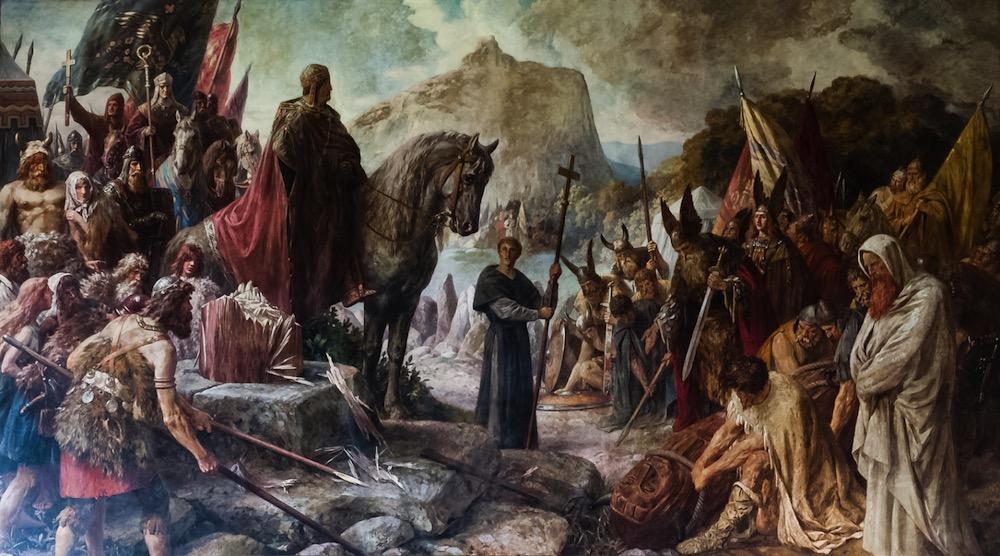 Cuando Carlomagno destruyó el Irminsul, el puente custodiado por Heimdal que conectaba el cielo y la tierra