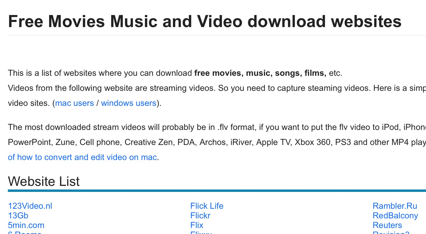 Más de 300 sitios donde puedes descargar películas y música gratis