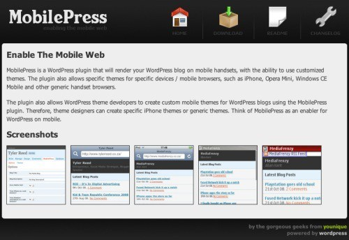 MobilePress: plugin para adaptar WordPress al móvil