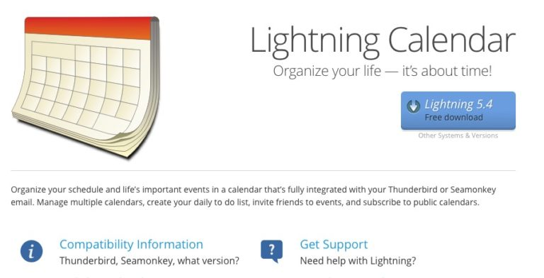 Mozilla Lightning disponible: un calendario para Thunderbird