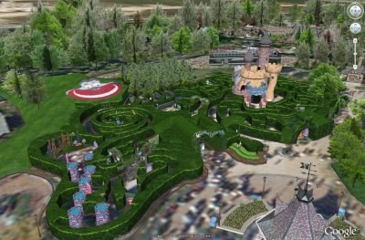 Disneyland París en Google Earth!