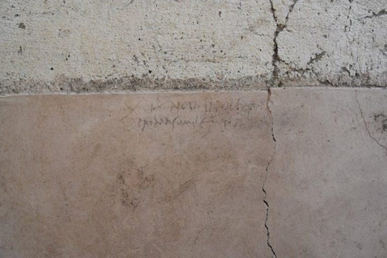 Un grafiti encontrado en Pompeya puede resolver el debate histórico sobre la fecha de erupción del Vesubio